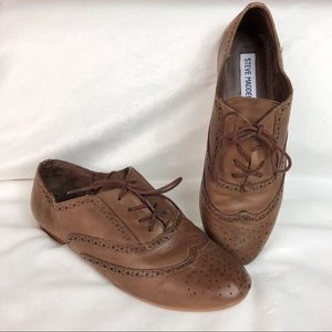 Steve Madden Leather Oxford Wingtip Shoes
